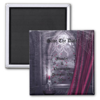 Spooky Gothic Church Save The Date Wedding Magnet