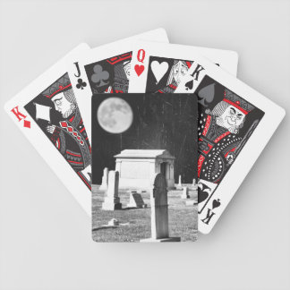 Spooky Graveyard Bicycle Playing Cards