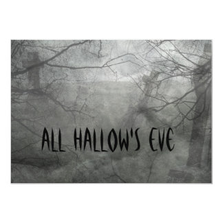 Spooky Graveyard Halloween Invitations