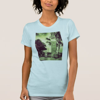 spooky green old fashion tower2 t-shirt ladies