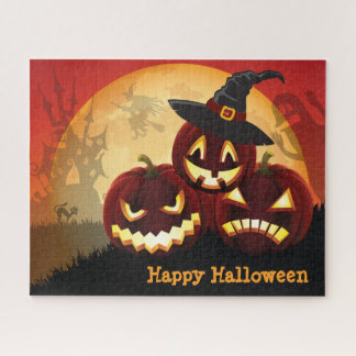 Spooky Halloween 16 x 20 Puzzle with Gift Box