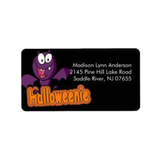 Spooky Halloween Bat Return Address Label