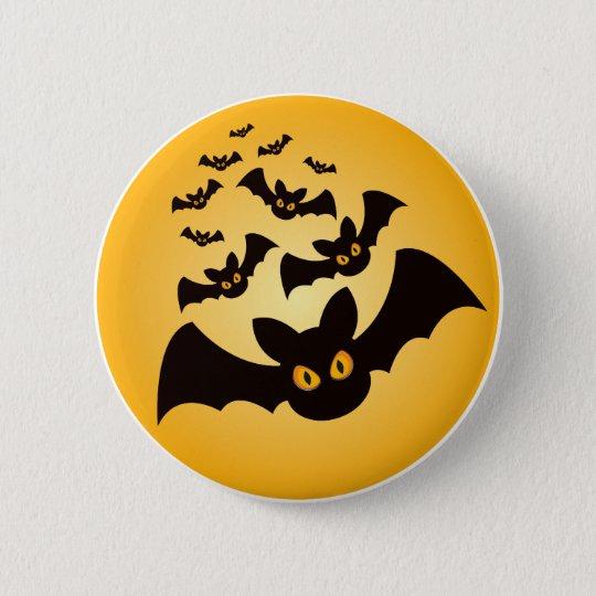 Spooky Halloween Bats 6 Cm Round Badge
