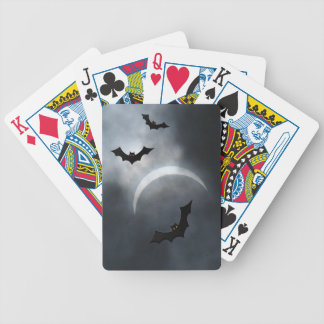 Spooky Halloween Bats In Eclipse Bicycle Playing Cards