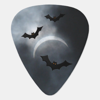 Spooky Halloween Bats In Eclipse Guitar Pick