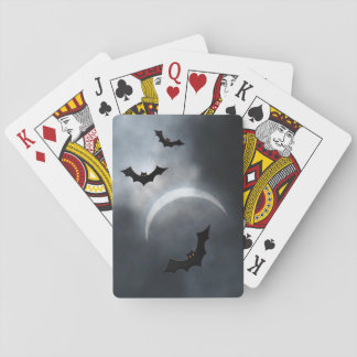 Spooky Halloween Bats In Eclipse Playing Cards
