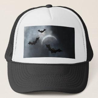 Spooky Halloween Bats In Eclipse Trucker Hat