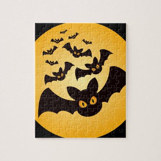 Spooky Halloween Bats Jigsaw Puzzle