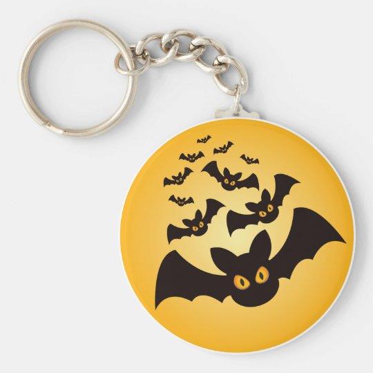 Spooky Halloween Bats Key Ring