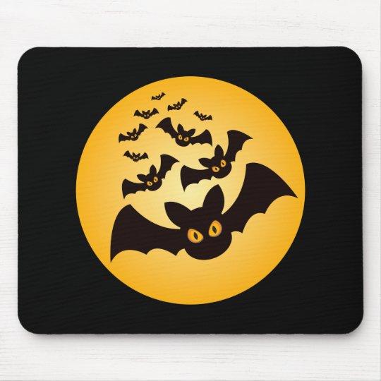 Spooky Halloween Bats Mouse Pad