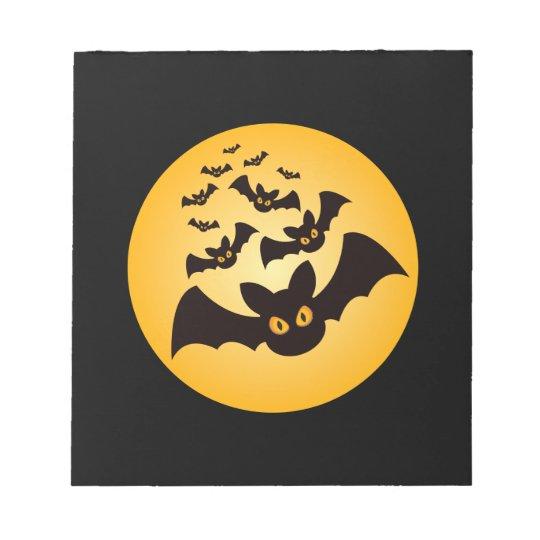 Spooky Halloween Bats Notepad