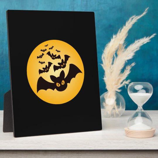 Spooky Halloween Bats Plaque
