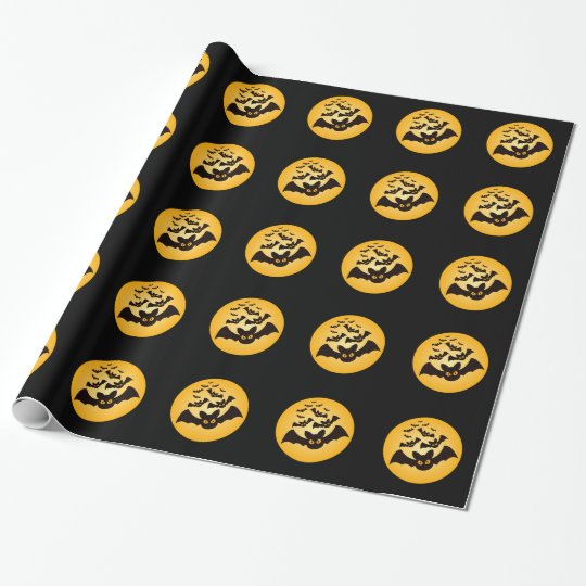 Spooky Halloween Bats Wrapping Paper