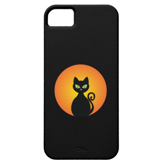 Spooky Halloween Black Cat Barely There iPhone 5 Case