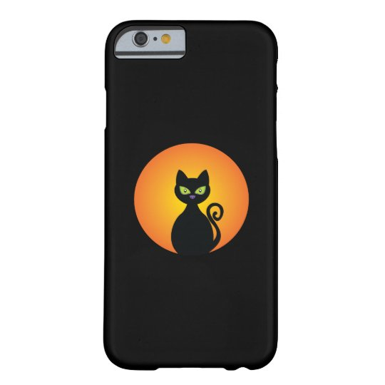 Spooky Halloween Black Cat Barely There iPhone 6 Case