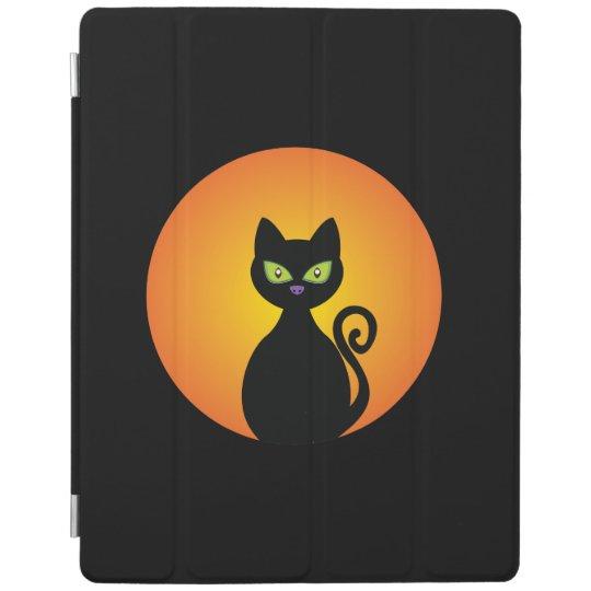 Spooky Halloween Black Cat iPad Smart Cover