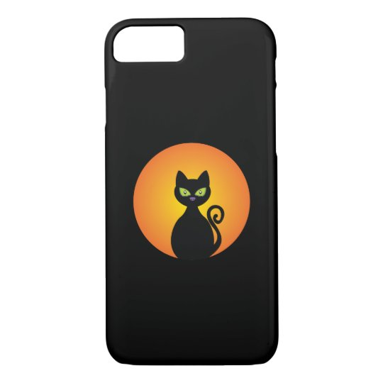 Spooky Halloween Black Cat iPhone 8/7 Case