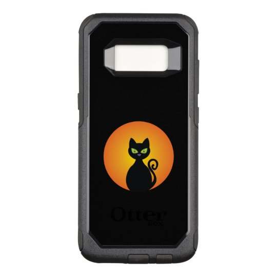 Spooky Halloween Black Cat OtterBox Commuter Samsung Galaxy S8 Case