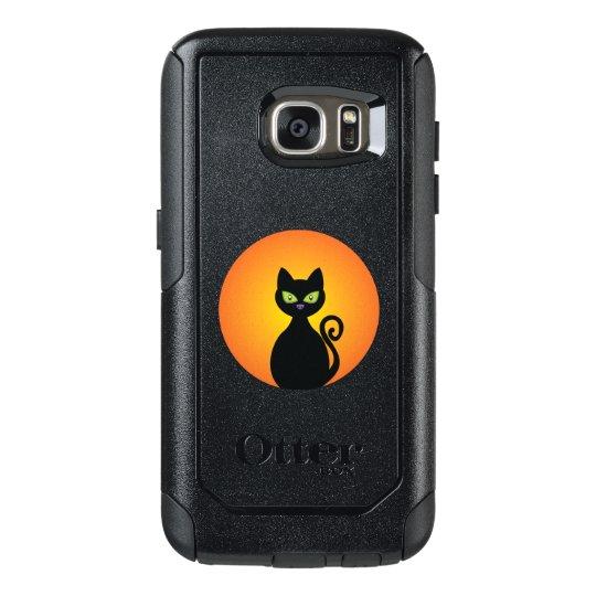 Spooky Halloween Black Cat OtterBox Samsung Galaxy S7 Case