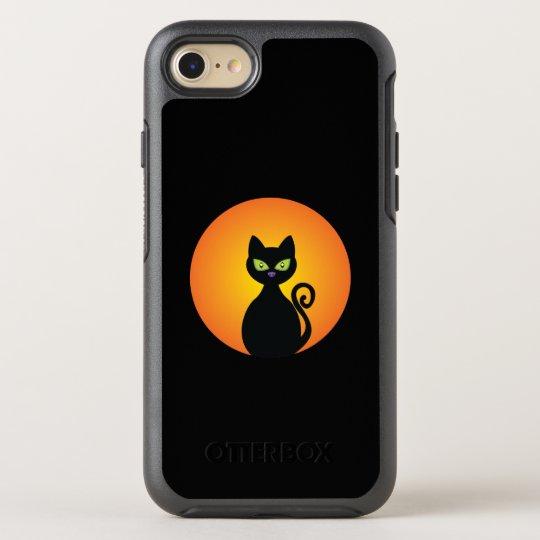 Spooky Halloween Black Cat OtterBox Symmetry iPhone 8/7 Case