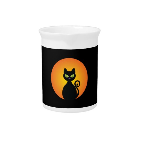 Spooky Halloween Black Cat Pitcher