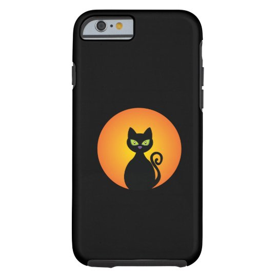 Spooky Halloween Black Cat Tough iPhone 6 Case