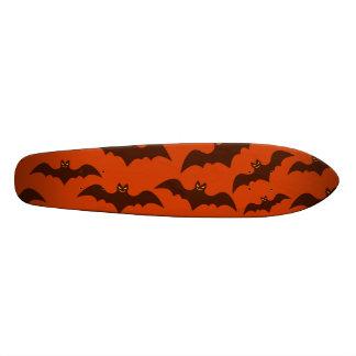 Spooky Halloween Brown Bats Pattern Custom Skate Board