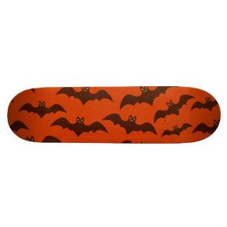 Spooky Halloween Brown Bats Pattern Skateboard Deck