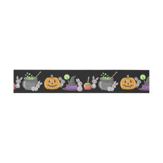 Spooky Halloween Bunnies Invitation Belly Band