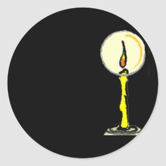 Spooky Halloween Candle Round Sticker