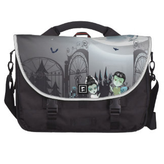 Spooky Halloween Cemetery Computer Bag