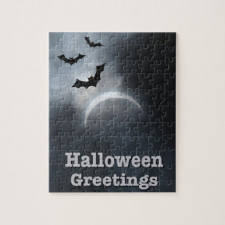 Spooky Halloween Eclipse Greetings Jigsaw Puzzle