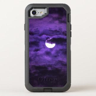 Spooky Halloween Full Moon Purple Clouds OtterBox Defender iPhone 7 Case