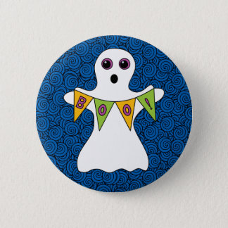 Spooky Halloween Ghost Boo 6 Cm Round Badge