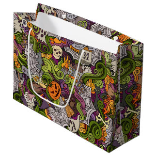 Spooky Halloween Gift Bag - Large, Glossy