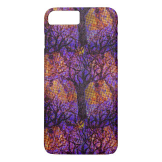 Spooky Halloween Halftone Design on iPhone 7 Case
