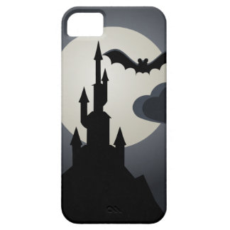 Spooky Halloween Haunted House on Hill iPhone 5 Case