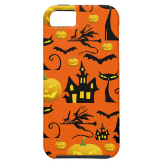 Spooky Halloween Haunted House with Bats Black Cat iPhone 5 Cases
