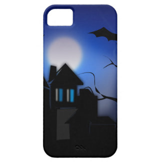 Spooky Halloween Haunted House with Bats iPhone 5 Covers