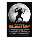 Spooky Halloween Horror Werewolf at the Full Moon Card