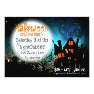 Spooky Halloween House 13 Cm X 18 Cm Invitation Card