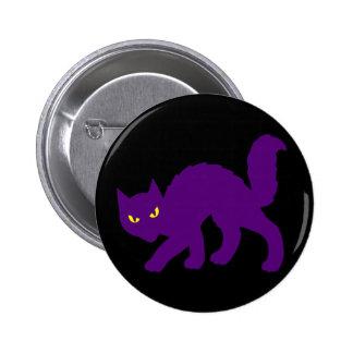 Spooky Halloween Kitty Cat Scary Evil 6 Cm Round Badge