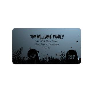 Spooky Halloween Address Label