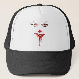 Spooky Halloween Makeup Trucker Hat