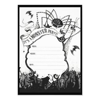 Spooky Halloween Party design 13 Cm X 18 Cm Invitation Card