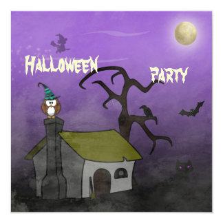 spooky Halloween party 13 Cm X 13 Cm Square Invitation Card
