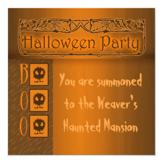 "Spooky Halloween Party Invitations 5.25"" Square Invitation Card"