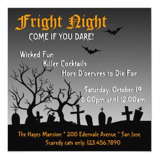 """Spooky Halloween Party Invite 5.25"""" Square Invitation Card"""