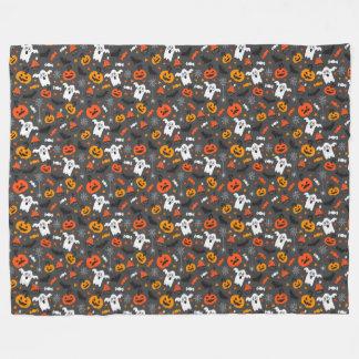 Spooky Halloween Pattern Fleece Blanket