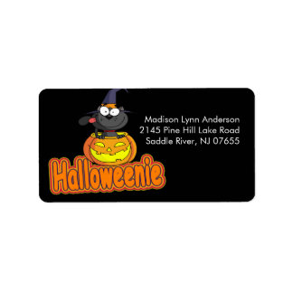 Spooky Halloween Pumpkin Return Address Label
